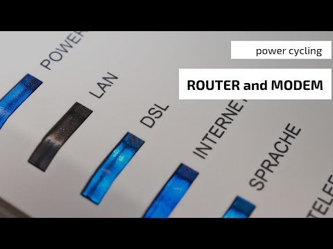 Tech Tip: Power Cycling Modem and Router